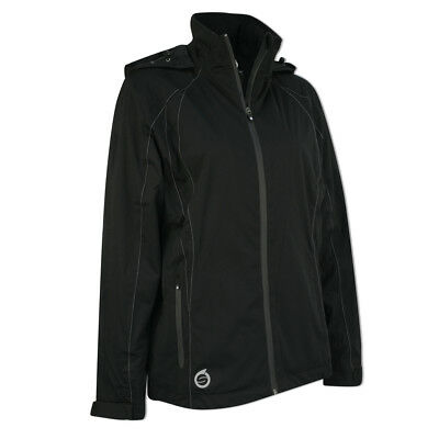 Sunderland Ladies WhisperDry Contour Jacket with Soft-Fleece Lining in Black