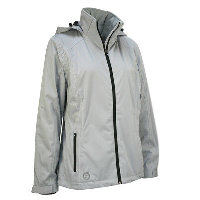 Sunderland Ladies WhisperDry Contour Jacket with Soft-Fleece Lining in Silver
