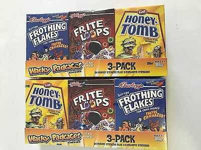 2013 Topps Wacky Packages  Series 10 Cereal Boxes ( 2 Box Lot )