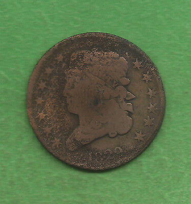 1829 Classic Head, Half Cent, Reverse Rotated - 188 Years Old!