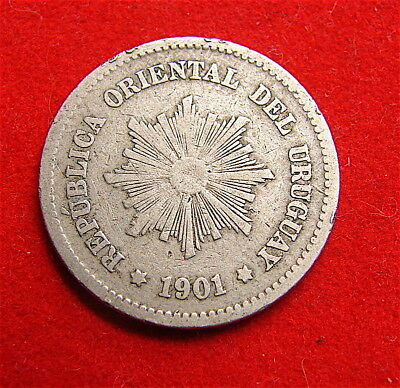 Uruguay~~~5 Centimos Coin dated 1901-----free ship