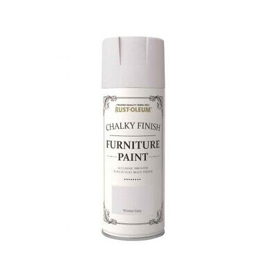 Rust-Oleum Chalk Chalky Furniture Spray Paint Shabby Chic 400ml Winter Grey