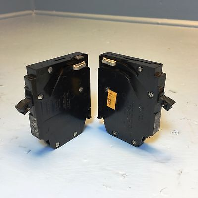 NEW Set of 2 Crouse-Hinds MH15 15A Circuit Breaker 1 Pole Type MM 15 Amp 240V