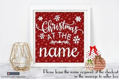 Vinyl sticker for IKEA RIBBA BOX FRAME - Christmas Sticker Christmas at ADD NAME