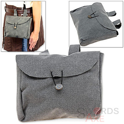 Vampire Feudal Lord Large Bag of Carry Belt Pouch Felt Medieval Europe Sack