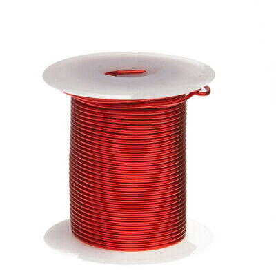 "20 AWG Gauge Heavy Copper Magnet Wire 4oz 78' Length 0.0346"" 155C Red"
