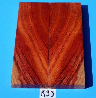 Colorful Cross Cut Borneo Rosewood Knife Blank Handle Scales~Exotic Wood Lumber