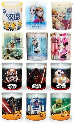 COTTON BUDS 150pc CHARACTER SWABS 100% Pure DISNEY+DESPICABLE ME New*YOU CHOOSE*