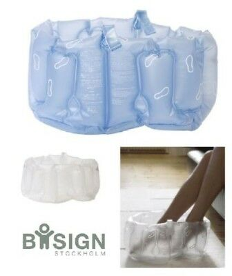 Bosign Inflatable Foot Bath Spa with Handles, Frost White or Dark Blue