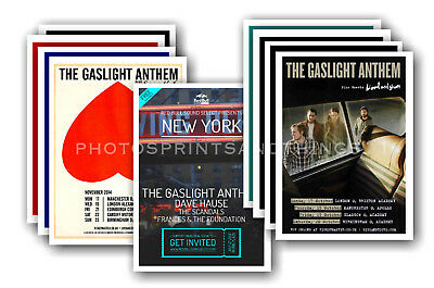 THE GASLIGHT ANTHEM - 10 promotional posters - collectable postcard set # 2