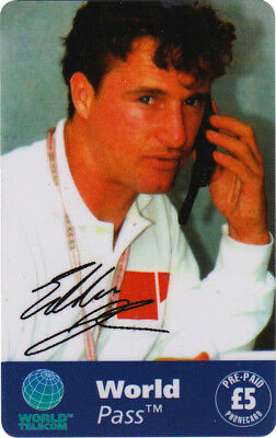 Eddie Irvine Phone Card, World Pass phone card