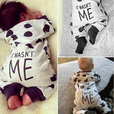 Toddler Infant Baby Boys Girls Cotton Romper Bodysuit Jumpsuit Outfits Clothes B