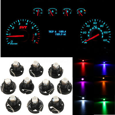 10x Car T4 T4.2 Neo Wedge 1-SMD LED Cluster Instrument Dash Climate Bulbs Lights