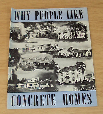 "1944 PORTLAND CEMENT Advertising~""WHY PEOPLE Like CONCRETE HOMES"""