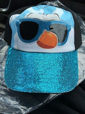 Disney Frozen Olaf Youth Adjustable Cap Hat Kid's Sparkle Hat Snap Back New