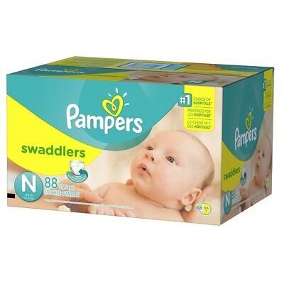 Pampers Diapers Swaddlers NB Super 88 count