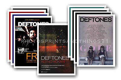 DEFTONES - 10 promotional posters  collectable postcard set # 1