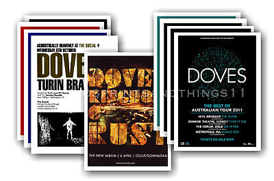 DOVES - 10 promotional posters  collectable postcard set # 1