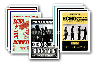 ECHO AND THE BUNNYMEN - 10 promotional posters  collectable postcard set # 1