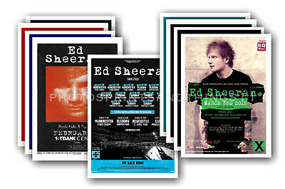 ED SHEERAN - 10 promotional posters  collectable postcard set # 1