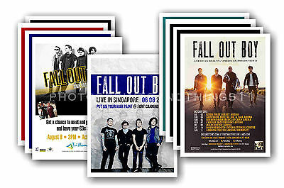 FALL OUT BOY - 10 promotional posters  collectable postcard set # 1