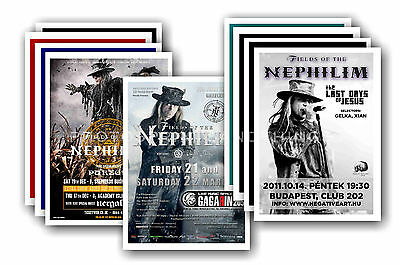 FIELDS OF THE NEPHILIM - 10 promotional posters  collectable postcard set # 1