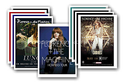 FLORENCE AND THE MACHINE - 10 promotional posters  collectable postcard set # 1