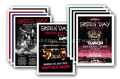 GREEN DAY - 10 promotional posters  collectable postcard set # 1