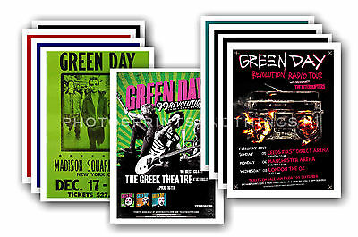 GREEN DAY - 10 promotional posters  collectable postcard set # 2