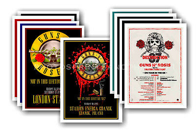 GUNS N ROSES - 10 promotional posters  collectable postcard set # 1