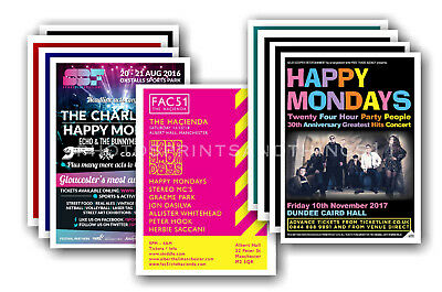HAPPY MONDAYS - 10 promotional posters  collectable postcard set # 1