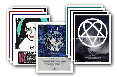 HIM - 10 promotional posters  collectable postcard set # 1