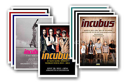 INCUBUS - 10 promotional posters  collectable postcard set # 1