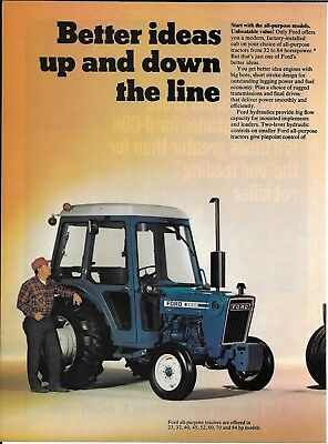1977 Ford Blue Tractors Models 3600 & 9700 Ad Better Ideas