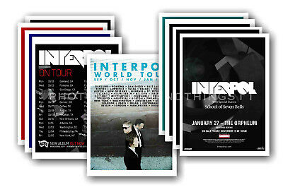 INTERPOL - 10 promotional posters  collectable postcard set # 2