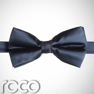 Boys Navy Banded Dickie Bow Tie Wedding Prom Page Boy Dickie Bows