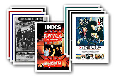 INXS - 10 promotional posters  collectable postcard set # 2