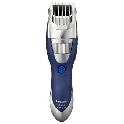 Panasonic ERGB40S Wet Dry Washable Beard Trimmer Clipper Shaver  Silver/Blue New