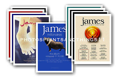 JAMES  - 10 promotional posters - collectable postcard set # 1