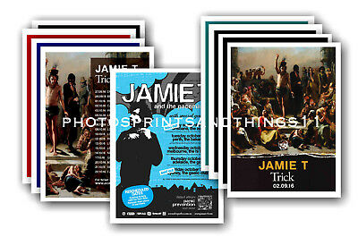 JAMIE T  - 10 promotional posters - collectable postcard set # 1