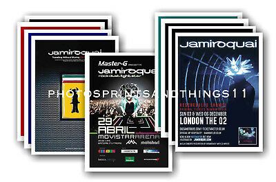 JAMIROQUAI  - 10 promotional posters - collectable postcard set # 1