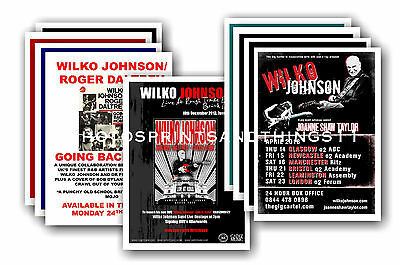 WILKO JOHNSON - 10 promotional posters - collectable postcard set # 1