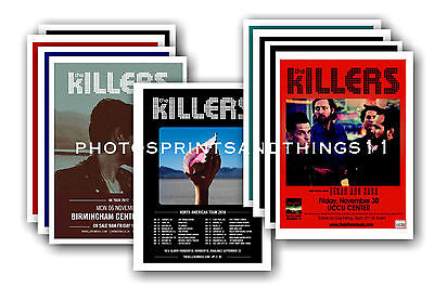 THE KILLERS - 10 promotional posters - collectable postcard set # 1