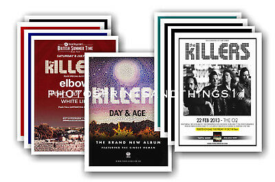 THE KILLERS - 10 promotional posters - collectable postcard set # 2