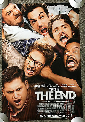 2012 THE END one-sheet DS movie poster ~ 27x40 ~ James Franco, Seth Rogen