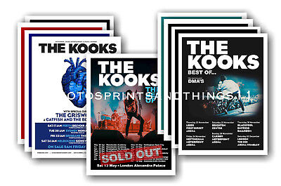 THE KOOKS  - 10 promotional posters - collectable postcard set # 1