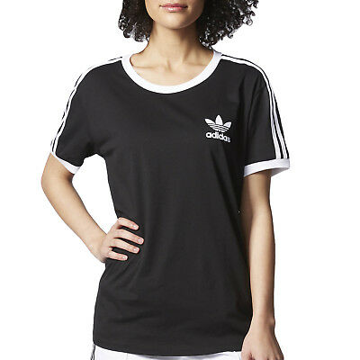 adidas Originals Womens Trefoil 3-Stripe Short Sleeve T-Shirt Tee Top (B GRADE)