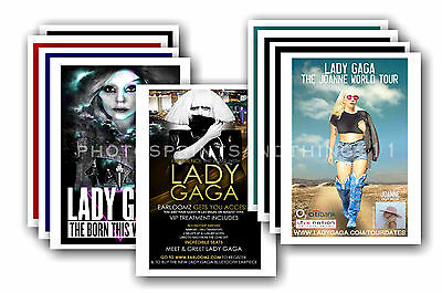 LADY GAGA - 10 promotional posters  collectable postcard set # 2
