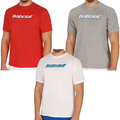Babolat Performance Mens Short Sleeve Training Tennis T Shirt Tee Top