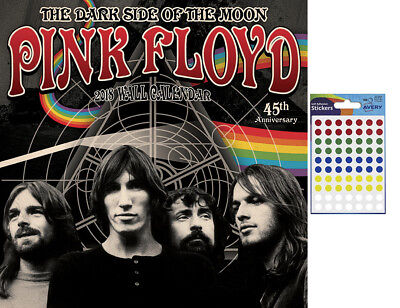Pink Floyd 2018 Official Wall Calendar - Includes 70 Coloured Dot Stickers